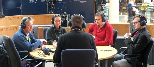 Danuta Jazłowiecka w towarzystwie opolskich dziennikarzy.
