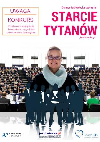 """Plakat promujący konkurs """"Pokaż Język: Starcie Tytanów"""""""