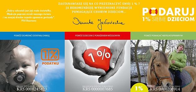 Posłanka Danuta Jazłowiecka, niezmiennie jak co roku, rekomenduje trzy opolskie fundacje opiekujące się chorymi dziećmi.