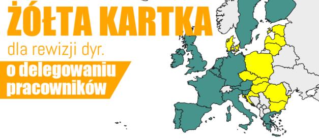 Komisja Europejska ignoruje żółtą kartkę ws.delegowania pracowników