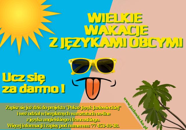 Ostatnie dni zapisów na darmowe warsztaty Pokaż Język Jazłowieckiej!