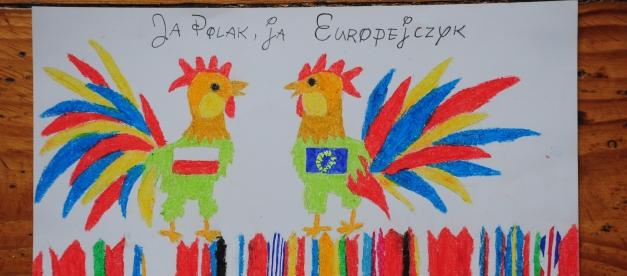 """Wystawa prac plastycznych """"Moja Europa"""" Jestem Europejczykiem potrwa do 16 września br."""